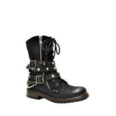 Arnold Churgin Shoes - BIKERBABE2 - (BLA)