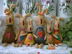 +easter+primative+crafts | Bunny Family | Free Toy Sewing Patterns
