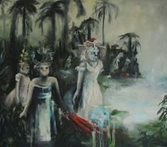 Emeli Theander, Watery Paves, 2012, Oil on Cavas, 150 x 170 cm