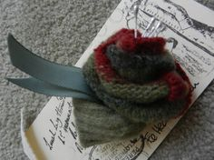 Felted Rose Pin
