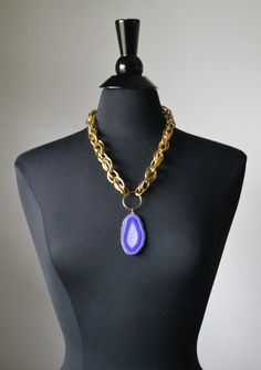 Large Gold Chunky Curb Link Chain  Statement by MarcieRoxx on Etsy, $28.00