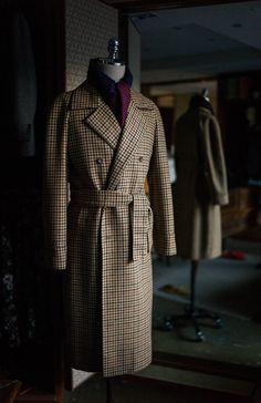B&Tailor Tweed raglan double coat