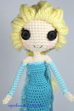 PATTERN Snow Queen Elsa from Disney's Frozen Crochet by epickawaii, $7.99