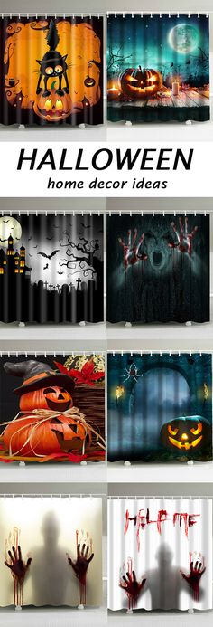 Off Shower Curtain, Shower Curtains Style On Dresslily, Free Shipp. Fröhliches Halloween, Halloween Home Decor, Creative Halloween Costumes, Outdoor Halloween, Halloween Season, Diy Halloween Decorations, Spirit Halloween, Holidays Halloween, Halloween Treats
