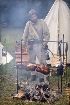 Outdoor cooking Civil War style.     Images from outdoor friends around the globe.