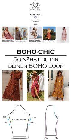 Boho Chic   einfach nähen lernen mit einfach nähen Ibiza Stil, Boho Stil, Bohemian Schick, Bohemian Mode, Boho Fashion, Style, Bad Picture, Geometric Designs, Curve Maxi Dresses