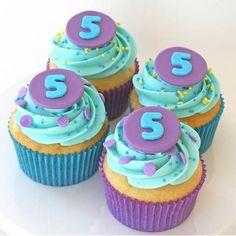 Little Mermaid Birthday Cupcakes |  #Birthday #cupcakes #Little #Mermaid