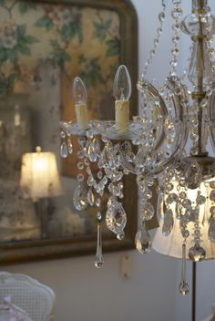 ✕ No matter how many chandeliers may be in my home, I never tire of them / #chandelier #whimsical