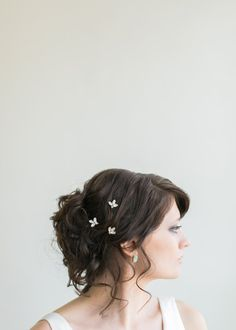 Bridal Headpiece, White Opal and Crystal Rhinestone Leaf and Berry Hair Pin Set, Bobby Pin Set- MADE TO ORDER- Style 5214