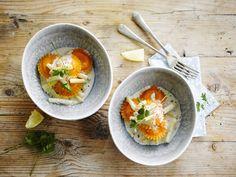 Een zongedroogde tomaten ravioli met asperges en Alpro Cuisine