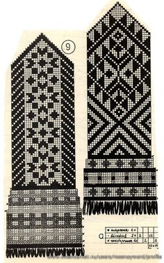 Fair Isle -to hang on the gallery wall Knitted Mittens Pattern, Crochet Mittens, Filet Crochet, Knit Crochet, Knitting Charts, Knitting Stitches, Knitting Patterns, Fair Isle Chart, Fair Isle Pattern