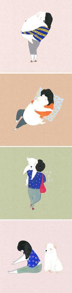 Dog drawings by Nangso