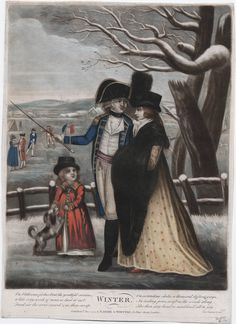 Winter (hand-colored mezzotint on wove paper)  1794, Robert Laurie and James Whittle