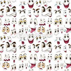 Expressões de rosto — Vetor de Stock © interactimages #14034445