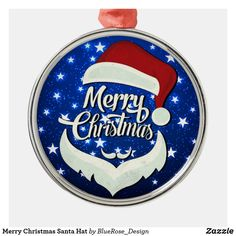 Merry Christmas Santa Hat Metal Ornament Holiday Cards, Christmas Cards, Christmas Decorations, Christmas Ornaments, Merry Christmas Santa, Christmas Items, Family Memories, Santa Hat, Holiday Outfits