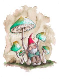 Check out this item in my Etsy shop https://www.etsy.com/listing/220668742/sleeping-gnome-gnome-nursery-art-gnome