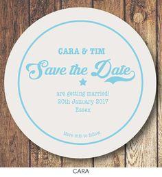 wedding letterpress coaster