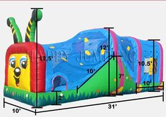 Happy Caterpillar : Inflatable Combos