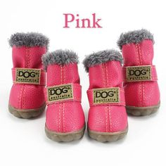 Pet Dog Shoes Winter Super Warm Dog's Boots Cotton Anti Slip XS Shoes for Small Pet Product ChiHuaHua Waterproof Warm Winter Boots, Winter Shoes, Cute Rain Boots, Fuzzy Boots, Ugg Boots, Dog Branding, Dog Socks, Waterproof Winter Boots, Random Stuff