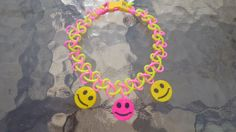 Tattoo choker with smiley face charms by CandraMikaylah on Etsy, $7.00