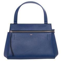 2b4e13ffd327 Celine 'Edge' Indigo Leather Shoulder Bag | Overstock.com Shopping - Big  Discounts on Celine Designer Handbags