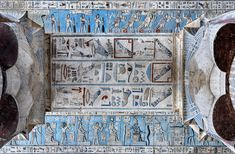 [EGYPT 29540]  'Architrave of astronomical ceiling in Hathor Temple at Dendera.'