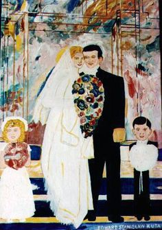 I can't for the life of me imagine how this wedding gift ended up at the thrift store. Bad Art, Thrifting, Wedding Gifts, Groom, Celebrities, Painting, Color, Store, Wall