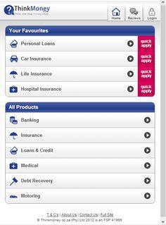 ThinkMoney.co.za Mobile Site Development