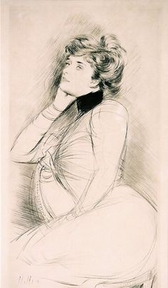 Portrait of the Artist's Wife, Paul Cesar Helleu, 1895