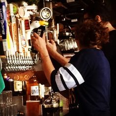 Pouring some Bio Beer at Union Tap and Kitchen in Encinitas!