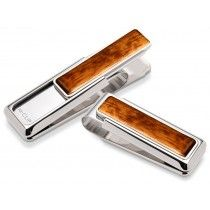 M-Clip Bubinga Wood Money Clip Silver - With a stylish, exotic look, the M-Clip Bubinga Wood Money Clip easily holds your cash and credit cards securely. This functional clip is built of sturdy materials and embellished by hand-finished wood inlays. Luxury Gifts For Men, Fancy Pens, Wood Insert, Pen Refills, Writing Pens, Rollerball Pen, Writing Instruments, Leather Accessories, Stainless Steel