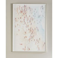 30x43 Summer Bay (22,970 MKD) ❤ liked on Polyvore featuring home, home decor, wall art, multi, handmade wall art, white framed wall art, white home decor, handmade home decor and white wall art