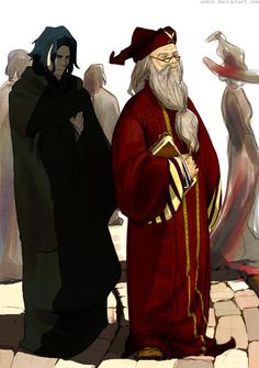 HP: Snape and Dumbledore by ~azmin on deviantART