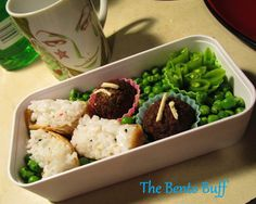 """Today's bento is my working on using up more of those ingredients, from the trip as well as stuff that's been in my freezer for too long- as part of my """"No Spend Week"""". Today's lunch has more of th..."""