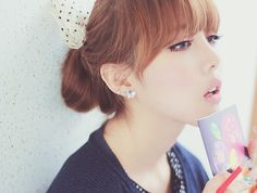 U-Shaped Bangs. Park Hye Min Ulzzang  - Pony makeup - Pony Beauty Diary
