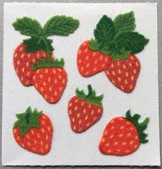 Mrs Grossman Sticker Sheet Lot Fruit Garden Vegetables Strawberries Grapes