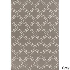 Surya Flatweave Melksham Wool Rug (8' x 10') (Grey-(8' x 10')), Grey, Size 8' x 10'