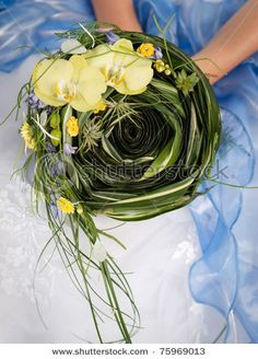 green and yellow bouquet