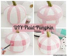 DIY Pink Pumpkin Wreath – VintageMeetsGlam If you're thinking about starting your fall decorating this weekend, I have a quick and inexpensive project for you to kick things off! This wreath is so easy to make but is sure to make the … Pink Pumpkins, Painted Pumpkins, Fall Pumpkins, Halloween Pumpkins, Fall Halloween, Halloween Crafts, Halloween Decorations, Pumpkin Wreath, Diy Pumpkin