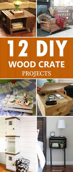 12 Amazing DIY Wood Crate Projects That ANYONE Can Do!