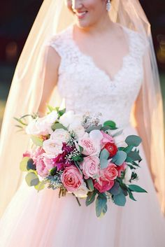 Soft Pink Wedding Bouquets To Fall In Love With ❤ See more: http://www.weddingforward.com/pink-wedding-bouquets/ #weddingforward #bride #bridal #wedding