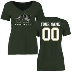 JU Dolphins Women's Personalized Football Slim Fit T-Shirt - Green