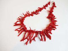 Southern Italy Vintage Branch Coral silver di Leschosesdemanu