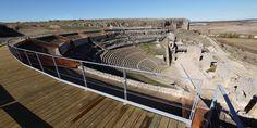 Teatro de Clunia. Vista General - Clunia, ciudad romana en Peñalba de Castro #Pinares #Burgos #Spain