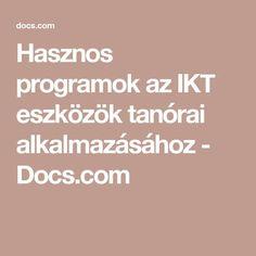 Hasznos programok az IKT eszközök tanórai alkalmazásához - Docs.com Technical Documentation, Microsoft, Coding