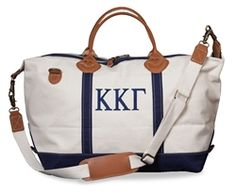 Could even do a monogram, Kappa Kappa Gamma Weekender Bag. - www.sassysorority.com