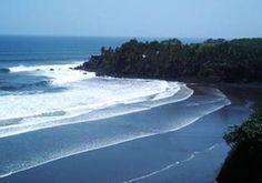El Cuco Beach in the Gulf of Fonseca El Salvador