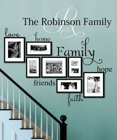 Look what I found on #zulily! Frame Words Personalized Decal by LolliPOP Walls #zulilyfinds