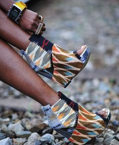Awesome ikat fabric shoes...DIY with pretty fabrcis, Mod Podge and a little white Tulip puffy paint to mimic the stitching.