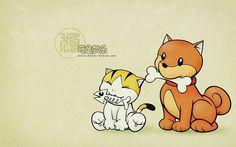 Kitten-Dream Cartoon Characters  - Dog - Cartoon Chinese Zodiac Animal Sign Wallpaper 3